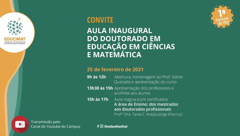 Aula Inaugural Doutorado 2021