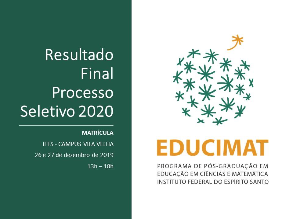 Resultado Final - Turma 2020