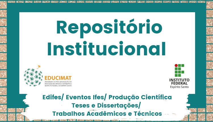 Repositório Institucional de trabalhos acadêmicos do Ifes